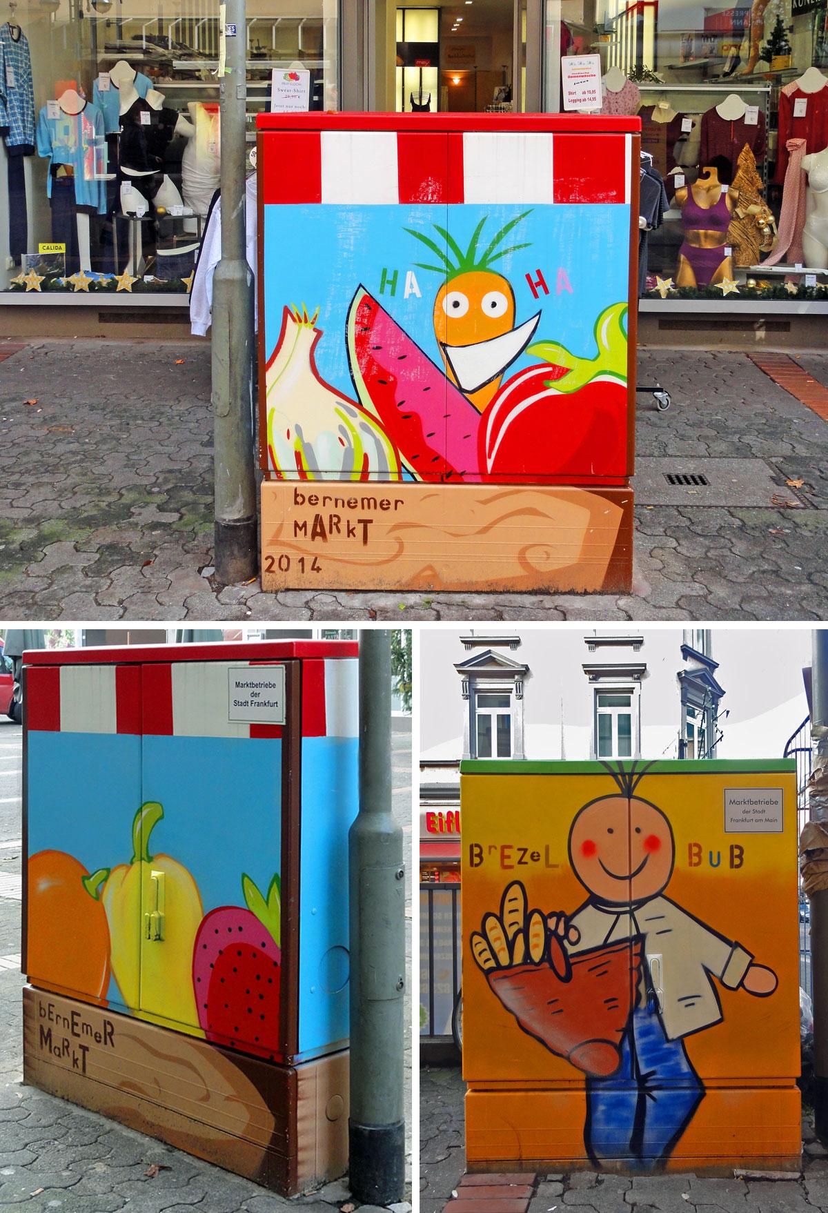 Neugestaltung der Elektrokästen an Bornheim Mitte