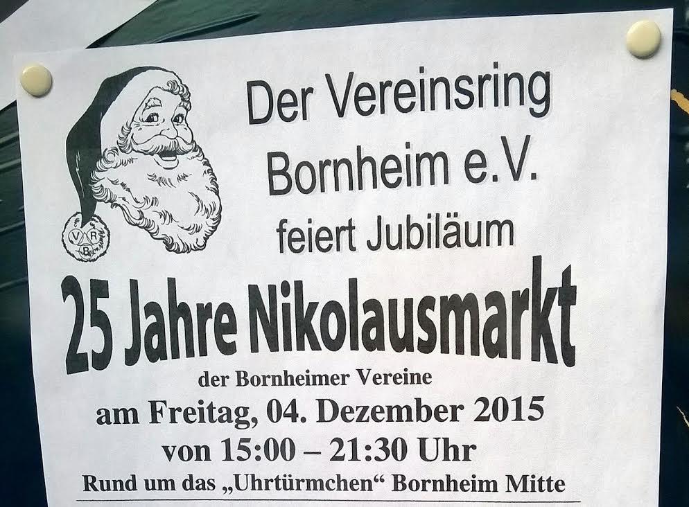 Nikolausmarkt 2015 in Bornheim Mitte