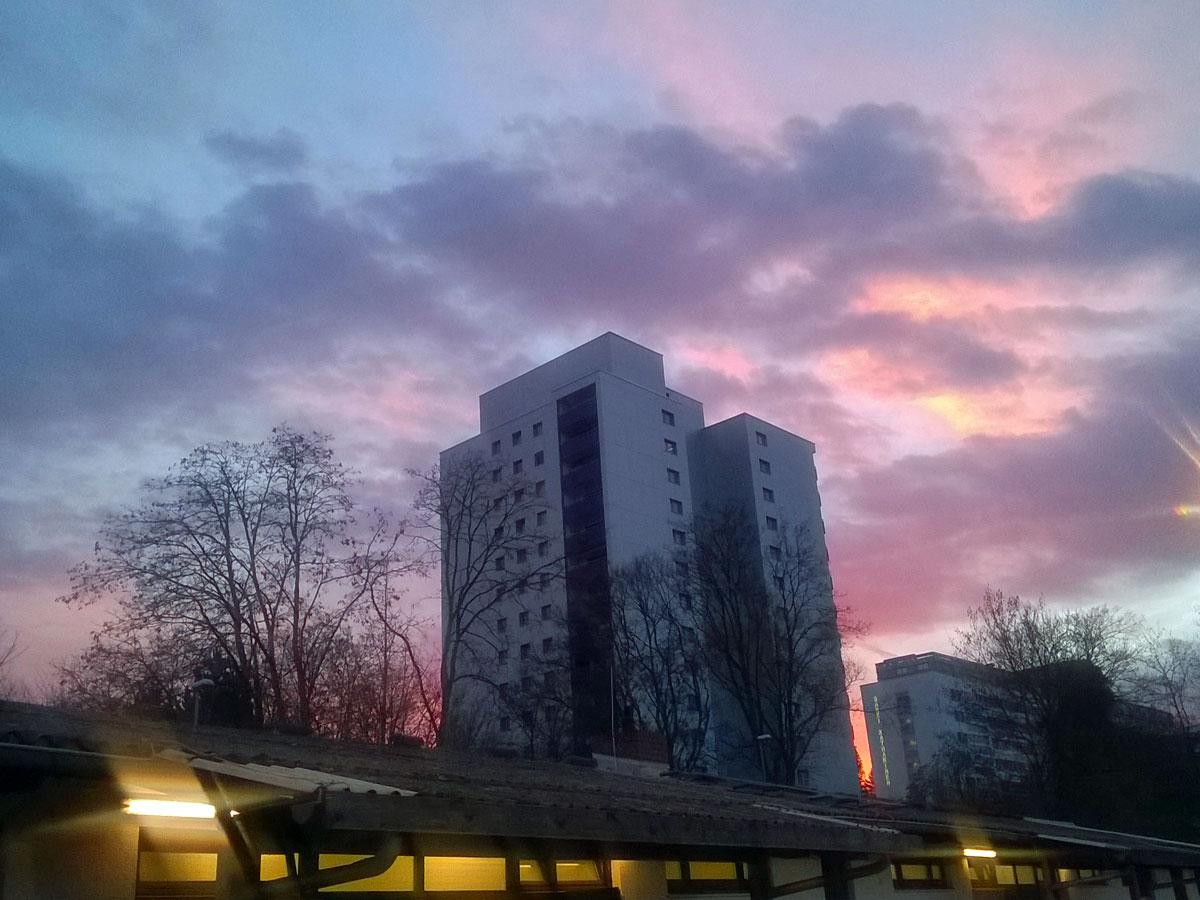 Abendhimmel in Bornheim
