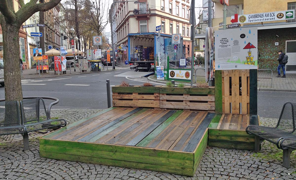 """""""Lust auf Leben""""-Bühne am Bornheimer Fünffingerplätzchen"""