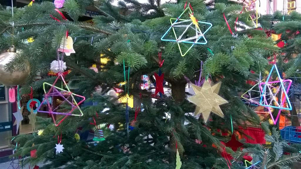 Weihnachtsbaum Bornheim Mitte in Frankfurt