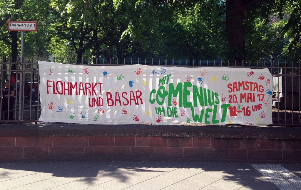 """Flohmarkt und Basar """"Mit Comenius um die Welt"""""""