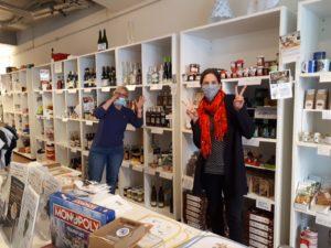 Masken im Einzelhandel