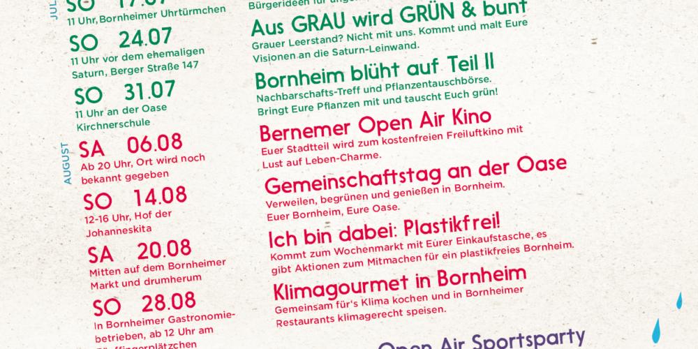 Lust auf Leben – mein Sommer in Bornheim