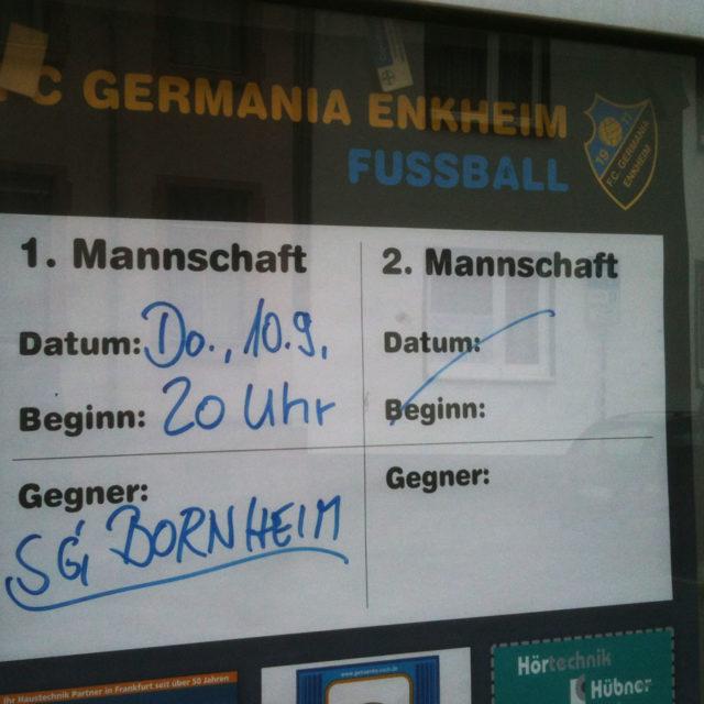 SG Bornheim zu Gast bei Germania Enkheim