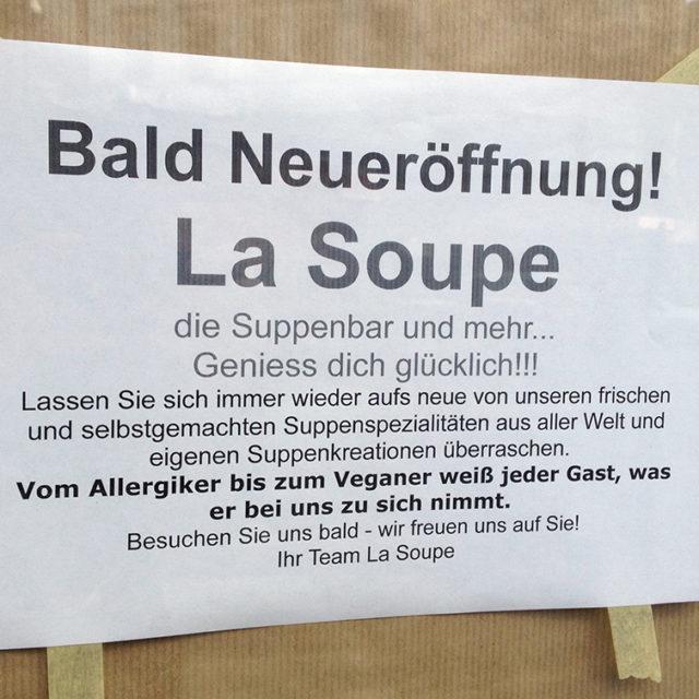 Bald Neueröffnung in Bornheim: La Soupe