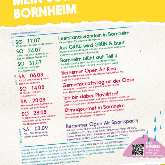 Open Air Kino am Uhrtürmchen in Bornheim