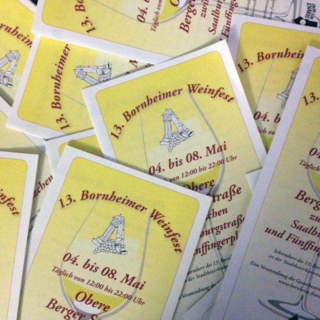 Programm des 13. Bornheimer Weinfestes