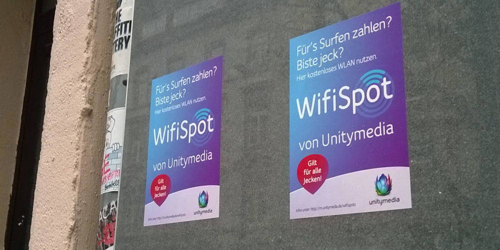 """Unitymedia- """"Aufkleber-Aktion"""""""
